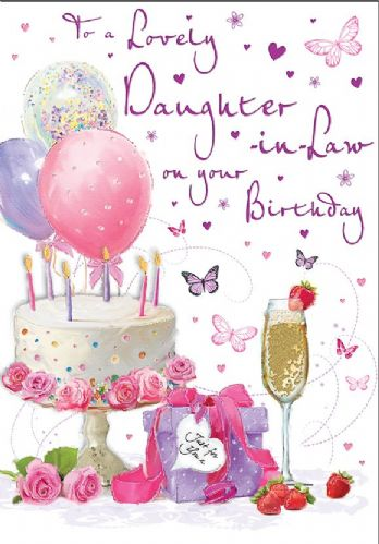 To A Lovely Daughter-In-Law On Your Birthday